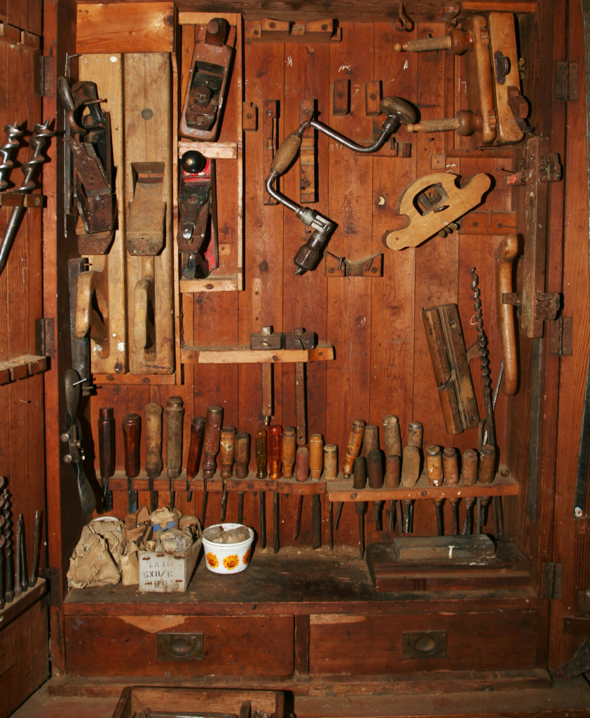 Classic woodworking tools are still used for bespoke projects